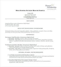 high school resume template for college application scholarship resume template college format high school free word