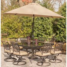 Patio Dining Set Swivel Chairs - traditions 9 piece square dining set with eight swivel dining