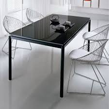 black glass table top black glass tables black glass dining table chair and 6 chairs