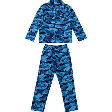 blue print size emerson flannelette pyjama set blue print size large big w