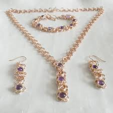 amethyst jewelry necklace images Chainmaille amethyst jewellery grace coco rocks JPG