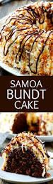 samoa bundt cake a moist chocolate cake covered in caramel icing
