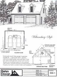 colonial garage plans colonial style 2 car garage plan with loft 650 1 by behm design