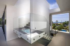 contemporary cantilever staircase interior design ideas