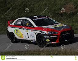 mitsubishi evo rally car racing car a mitsubishi evo 9 editorial image image 72138080