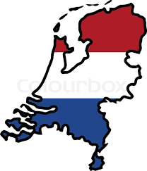 netherlands map flag map in colors of netherlands stock vector colourbox