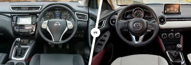 mazda cx3 interior nissan qashqai vs mazda cx 3 u2013 suvs compared carwow