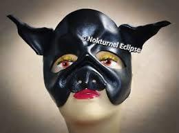 Black Mask Halloween Costume Black Pig Leather Mask Masquerade Cosplay Fantasy Evil Halloween