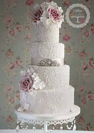 lace wedding cakes girly vintage wedding lace roses and bling found it here www