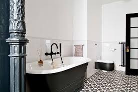bathroom tiles black and white ideas black white bathroom cement tile flooring design dma homes 76986