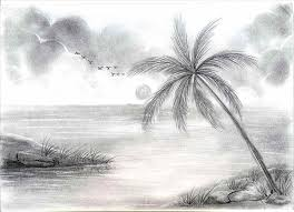 How To Draw Landscapes by In Easy Simple Landscapes To Draw Landscape Drawing For Beginners