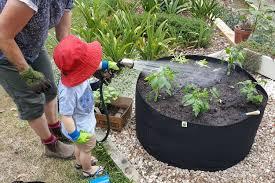 amazon com ecogardener raised bed fabric planter grow bags 150