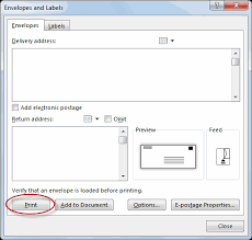 creating envelopes and labels tutorial webucator