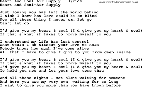 Blind To You Lyrics Love Song Lyrics For Heart And Soul Air Supply