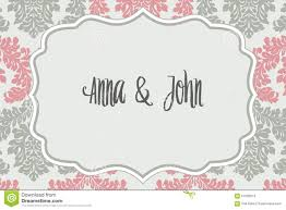 elegant wedding invitation stock illustration image 57082574