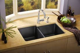 kitchen grey metal doble bowl kitchen sink with stainless steel