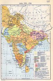 Indian Map Of India 1700 1792