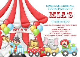 circus birthday invitations plumegiant com