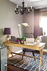 rustic glam home decor clean white wallpaper home office design inspiration establish