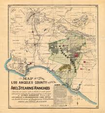 Map Los Angeles Map Of A Portion Of Los Angeles County Showing The Abel Stearns