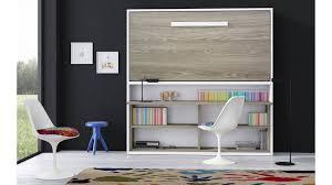 lit armoire bureau lit escamotable et bureau intégré aventino coloris aux choix