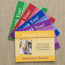 personalized thank you cards personalized photo thank you cards