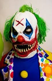 Killer Clown Costume Killer Clown Costume Mask Prosthetic Scary Clown Mask Prosthetic