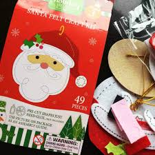 aliexpress com buy 3pcs 1bag lot santa felt craft kits fabric