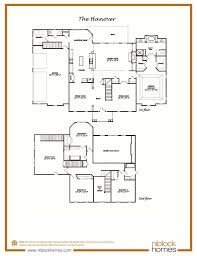hanover floor plan 1st floor master bed niblock homes