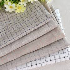 table linen wholesale suppliers high quality 100 linen fabric plaid check style for garments