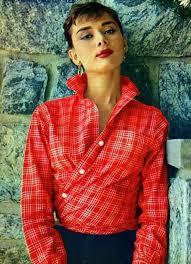 hepburn earrings shirt tartan tartan shirt shirt hepburn