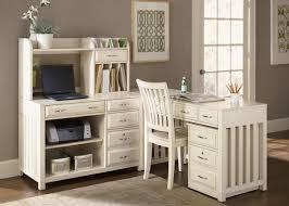 furniture l shaped white wooden corner desk with hutch having