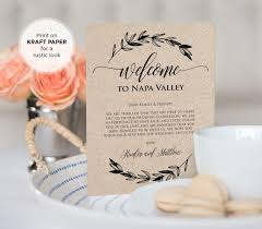 welcome to our wedding bags wedding welcome bag letter
