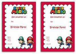 How To Print Invitation Cards Super Mario Birthday Invitations Marialonghi Com