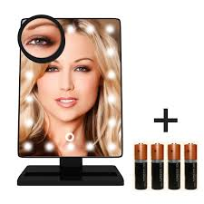 amazon com krasr touch screen 20 led lighted makeup mirror with