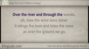 thanksgiving poems for kindergarten over the river and through the woods sing out loud children u0027s