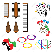 hair clip types three types of combs and a variety of beautiful hair accessories