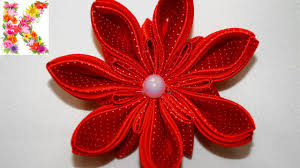 kanzashi flower tutorial hair accessories how to make kanzashi diy
