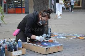 Spray Paint Artist - spray paint art editorial photo image of colour hoodie 65243576