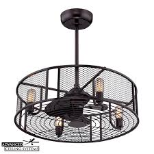 Ceiling Fan With Cage Light 8 Eye Catching Cage Enclosed Ceiling Fans You Ll Advanced