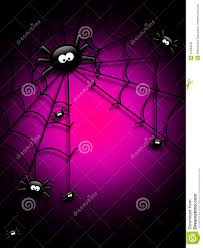 halloween background funny halloween background with spiders and place for text stock