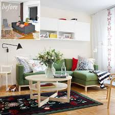 living room makeover and decorating with inexpensive home furnishings