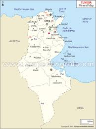 map of tunisia with cities tunisia mineral map resources of tunisia