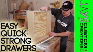 Kitchen Cabinet Drawer Boxes Strong Quick Drawer Construction 126 Youtube