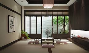 Japanese Style Desk Japanese Style Living Room Design Bright Lighting Above Drawer