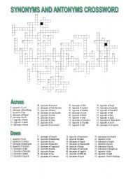crossword synonyms and antonyms of adjectives