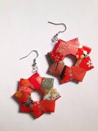 origami earrings modular origami earring origami paper