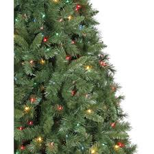 holiday time pre lit 7 5 u0027 kennedy fir artificial christmas tree