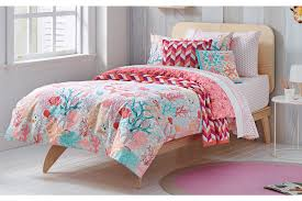Coral And Mint Bedding Bedroom Fascinating Comforter Coral Bedding On Dark Brown Wood