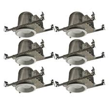 new construction led recessed lighting kit utilitech aluminum 6 in new construction recessed ceiling lighting